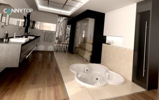 防滑地砖巧妙配搭 完美打造时尚浴室