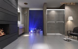 卫生间安装淋浴房该如何搭配其他洁具?