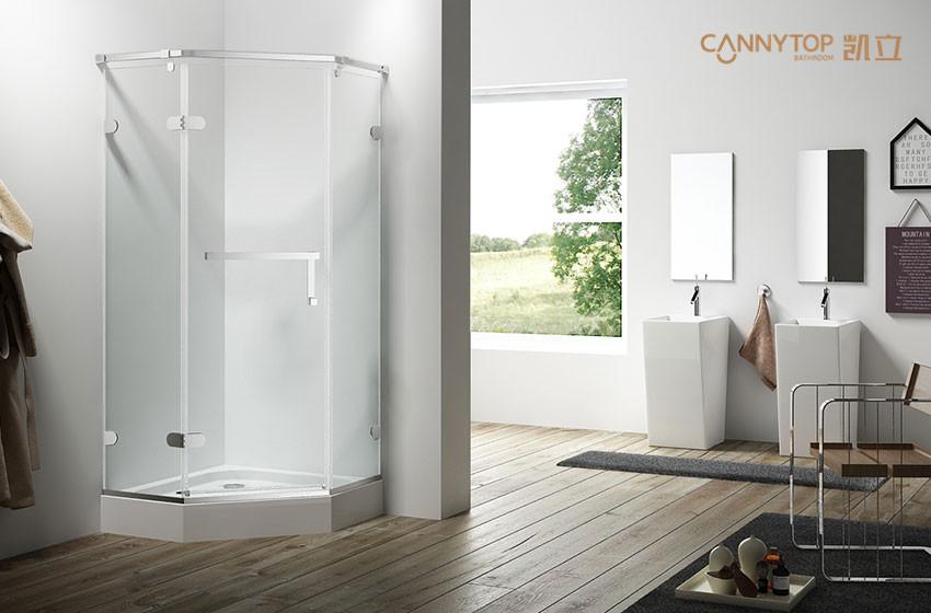 白色风格卫浴间加上淋浴房,解锁新极简风!